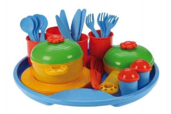 Nádobí Jídelní sada Belle Cuisine podnos + doplňky plast
