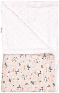 Dětská deka, dečka Pet´s 80x90 - Minky/ bavlna