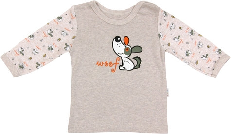 Bavlněné tričko Pet´s - dlouhý rukáv, vel. 80, Velikost: 80 (9-12m)
