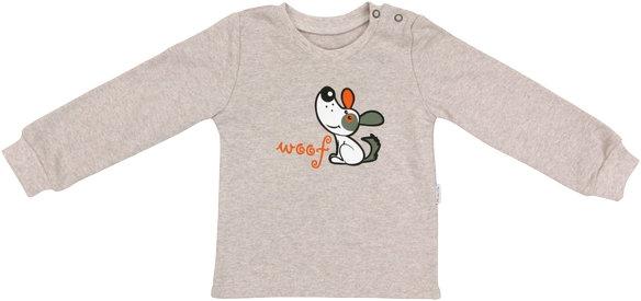 Bavlněné tričko Pet´s - béžové, vel. 80, Velikost: 80 (9-12m)