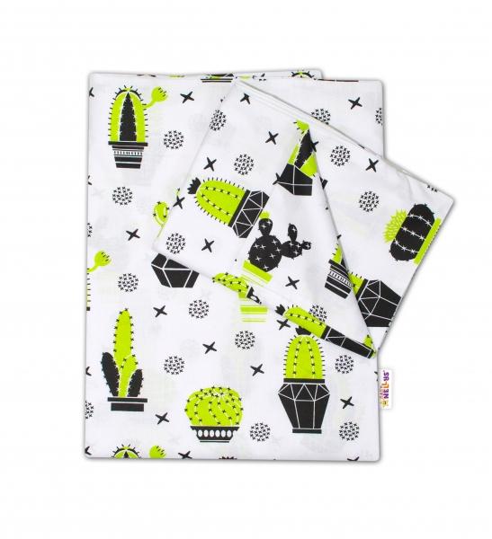 Baby Nellys 2-dílné bavlněné povlečení - Kaktus, 135x100 cm