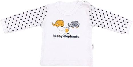 Bavlněné tričko Elephant, vel. 80, Velikost: 80 (9-12m)