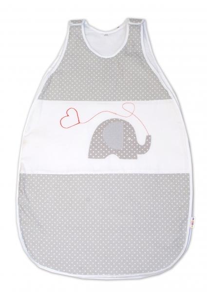 Spací vak  Baby Nellys ®- Sloníci se srdíčkem