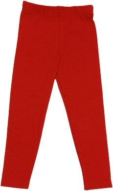 Bavlněné jednobarevné legíny - červené, vel. 104