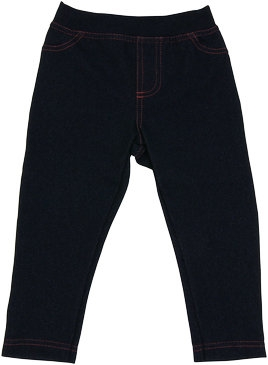 Bavlněné jednobarevné legíny - jeans, vel. 86