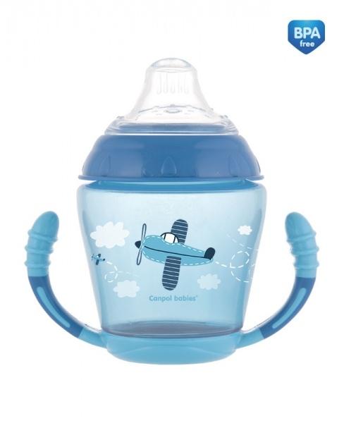 Nevylévací hrníček Toys - modrý
