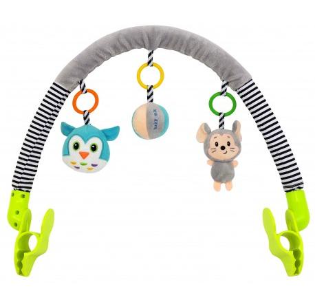Oblouk s hračkami Myška a sova