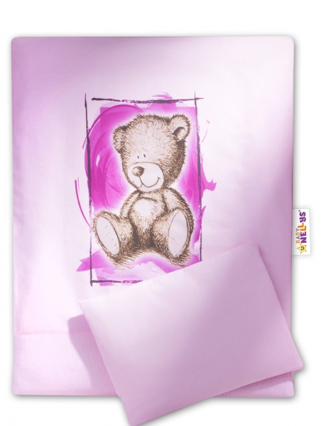 Sada do kočárku komplet  4D Sweet Dreams by Teddy - růžový