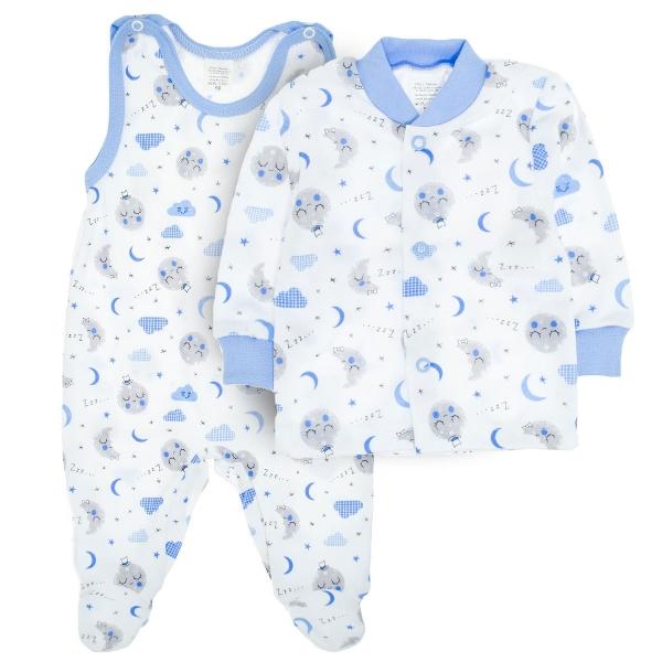2- dílná soupravička košilka + dupačky Dobrou noc - modrá