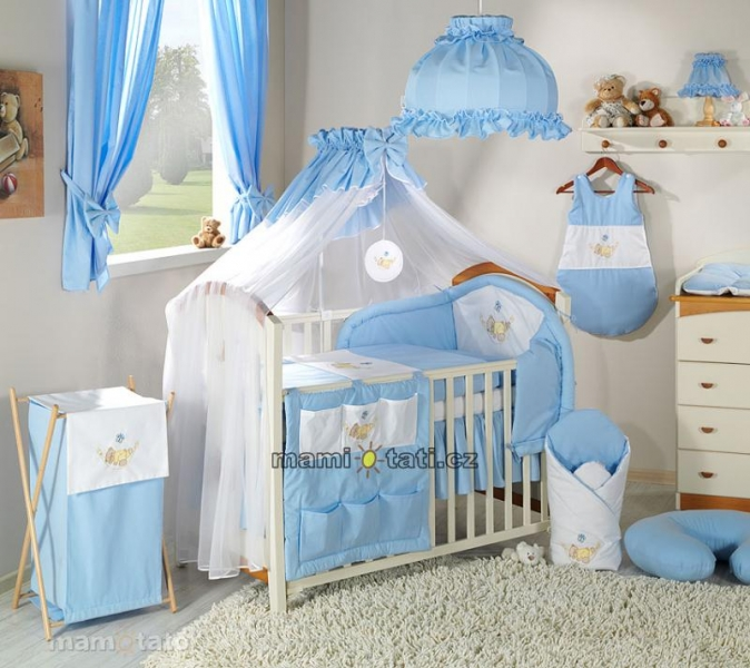 Luxusní mega set s moskytiérou - Houpačka modrá