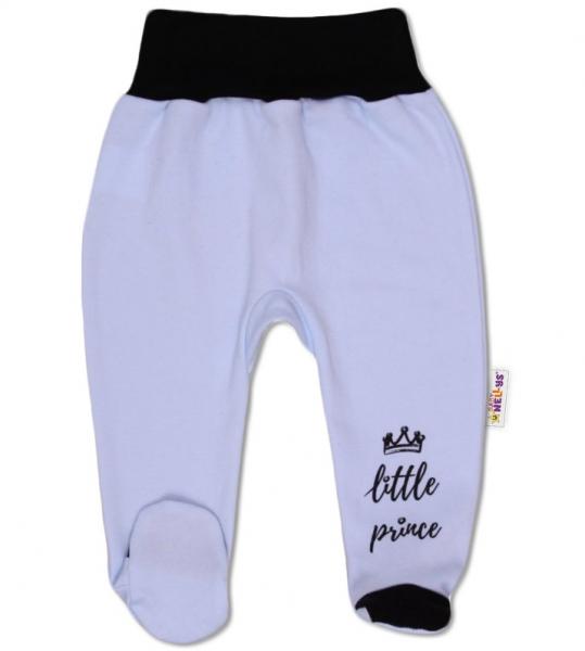 Baby Nellys Kojenecké polodupačky, Little Prince - modré, vel. 68vel. 68 (4-6m)