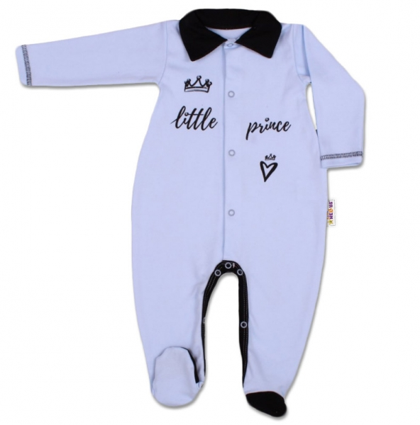 Bavlněný overálek Little Prince - modrý, Velikost: 56 (1-2m)