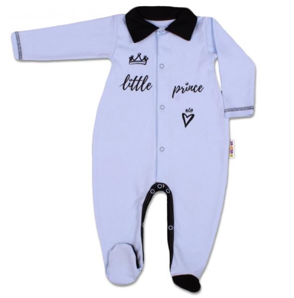 Baby Nellys Bavlněný overálek Little Prince - modrý, vel. 68