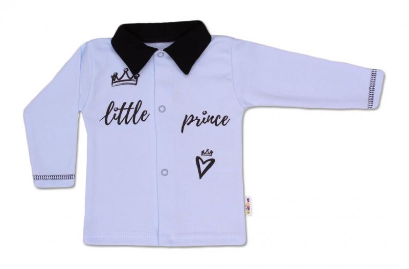 Baby Nellys Bavlněná košilka Little Prince - modrá, vel. 62