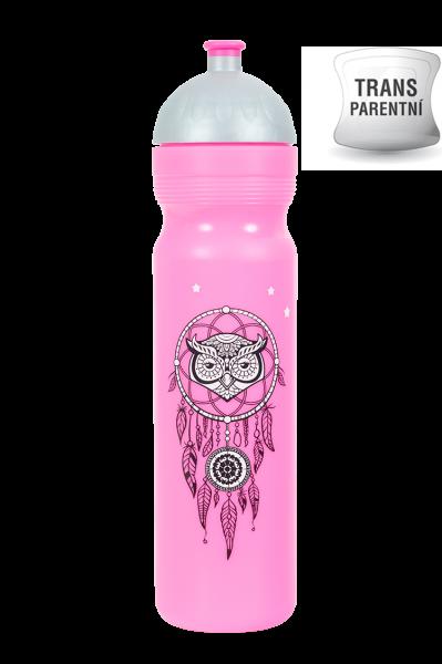 Zdravá láhev - 1l - Lapač snů - růžová