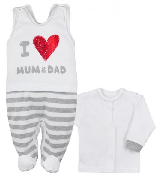 2-dílná soupravička košilka + dupačky Mum and Dad, vel. 62