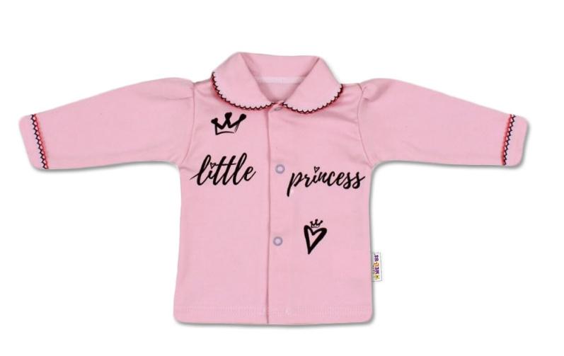 Baby Nellys Bavlněná košilka Little Princess - růžová