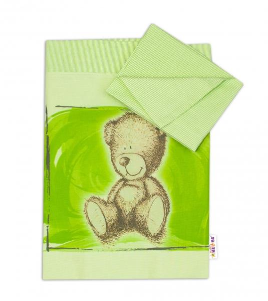 2-dílné povlečení do kolébky 90x80 cm, Sweet Dreams by Teddy - zelená