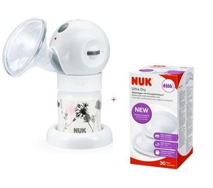 NUK Elektrická odsávačka mléka Luna + vložky do podprsenky 30 ks