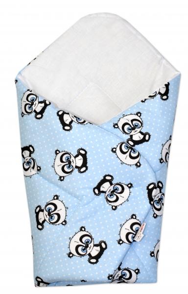 3-dílná sada mantinel s povlečením + zavinovačka zdarma - Baby Panda, modrá, D19