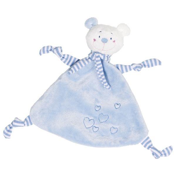 Cause Muchláček Medvídek se srdíčkami - modrý