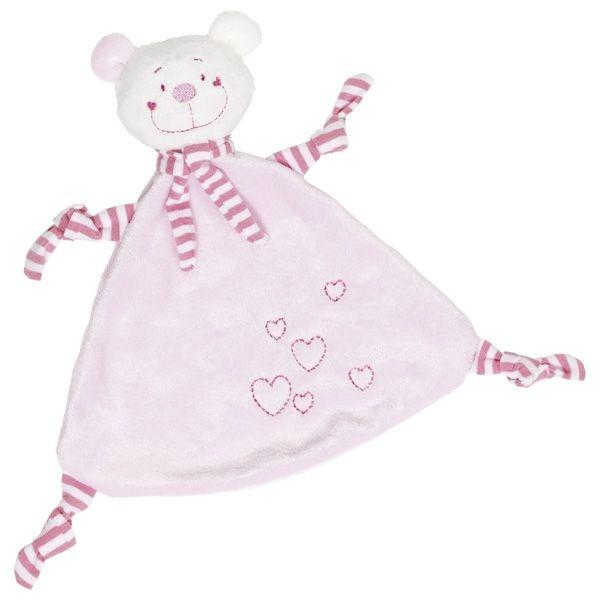 Muchláček Medvídek se srdíčkami - růžový