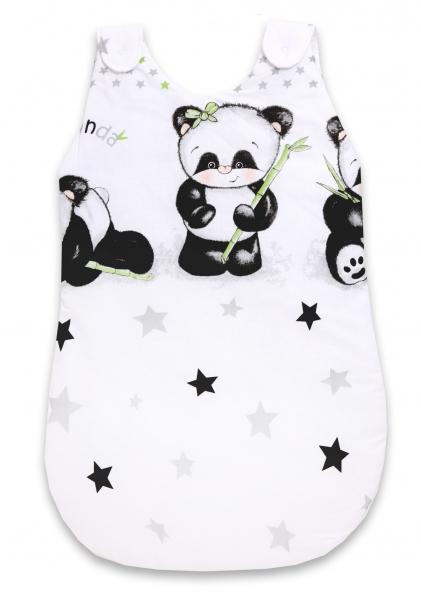 Baby Nellys Spací vak Panda - bílý, D19