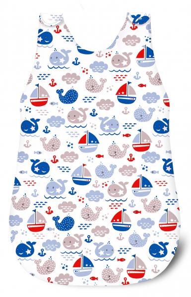 Baby Nellys Spací vak Oceán Baby - bílý