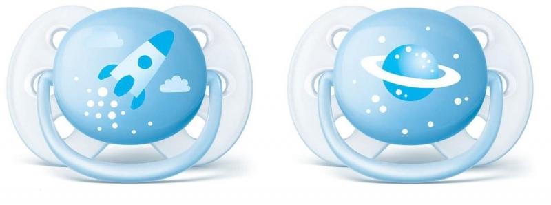 Dudlíky  0-6 m Ultra Soft Kluk - sv. modrá