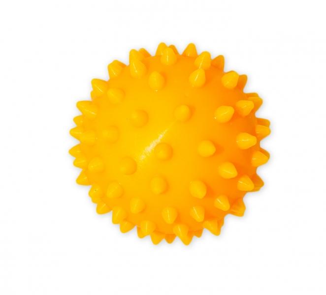 Hencz Toys Barevný míček/ježek, 1ks v krabičce - žlutý