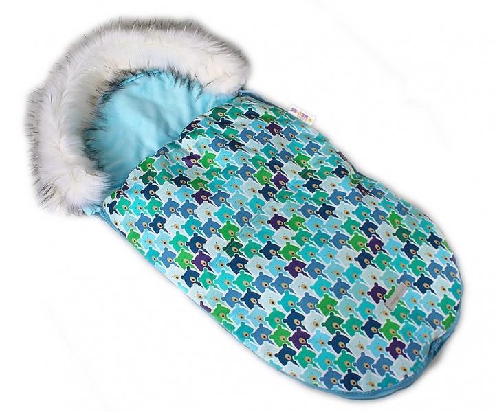 baby-nellys-fusak-spacacek-105x55-velvet-winter-lux-medvedi-v-mate
