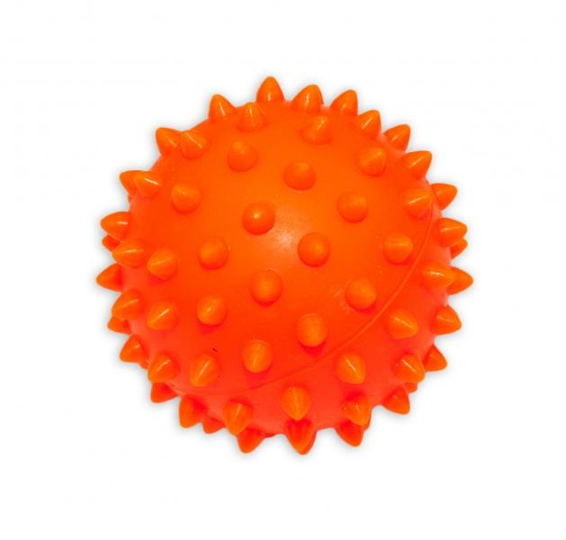 Barevný míček/ježek, 1ks v krabičce - oranžový