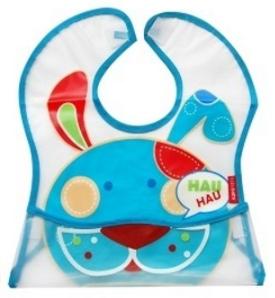 BOBO BABY Dětská zástěrka Pejsek - modrý