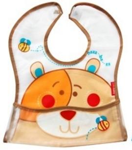 BOBO BABY Dětská zástěrka Medvídek -  hnědý