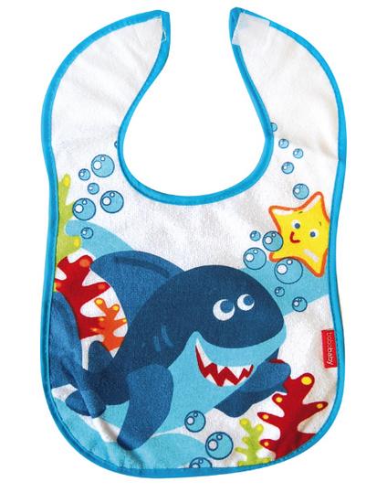 BOBO BABY Dvouvrstvý froté bryndáček - Žralok