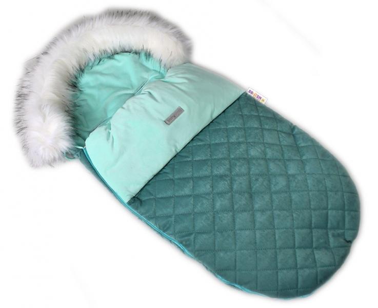 baby-nellys-fusak-spacacek-105x55-velvet-exkluziv-prosivany-zeleny