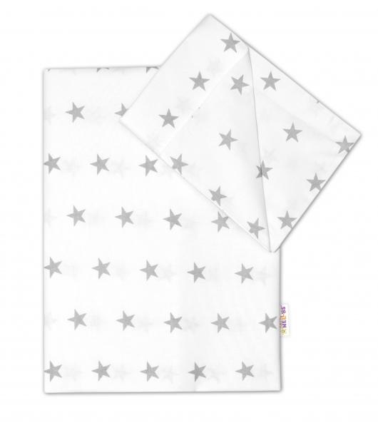 2 dílné bavlněné povlečení 135x100 - Hvězdičky v bílém