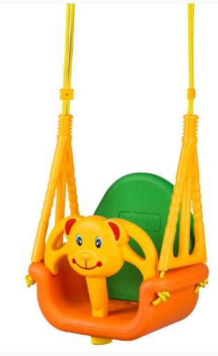 Eco toys Zahradní houpačka 3v1 - Medvídek