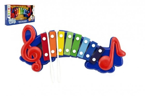 Xylofon plast/kov 32cm v krabici 37x20x6cm