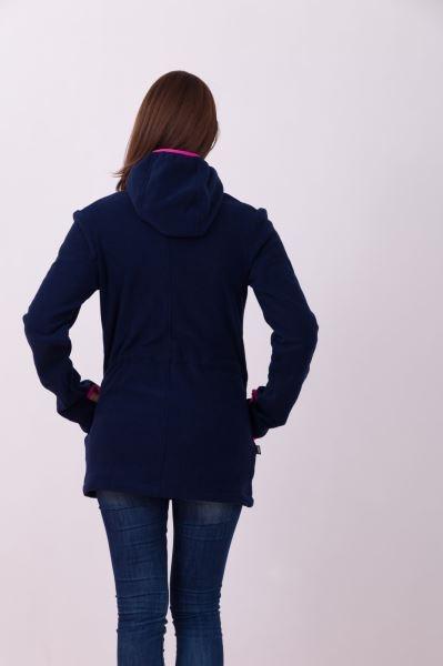 JOŽÁNEK Nosící fleece mikina s kapucí - pouze přední nošení - tm. modrá, vel. M/L