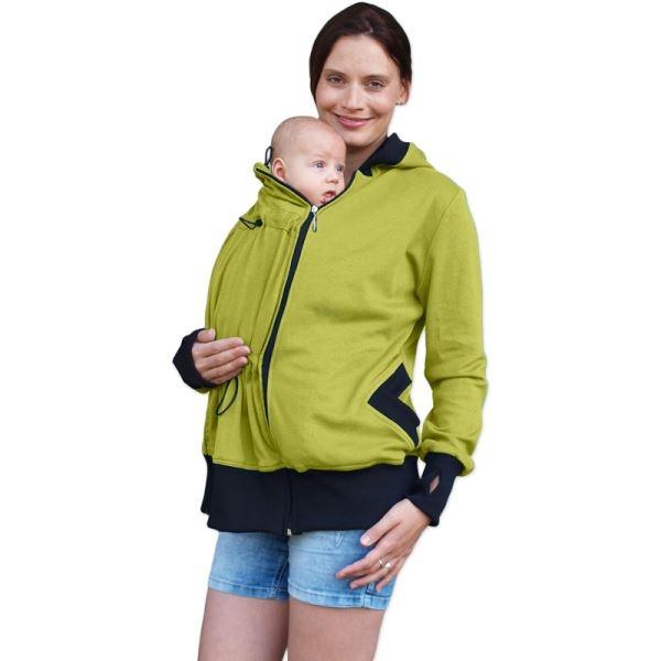 JOŽÁNEK Těhotenská/nosící bavlněná mikina - limetková
