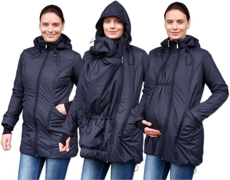 JOŽÁNEK Zimní bunda pro těhotné/nosící - vyteplená, černá