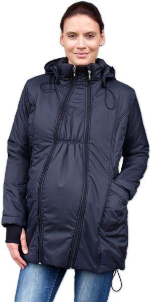 JOŽÁNEK Zimní bunda pro těhotné/nosící - vyteplená, černá, vel. L/XL