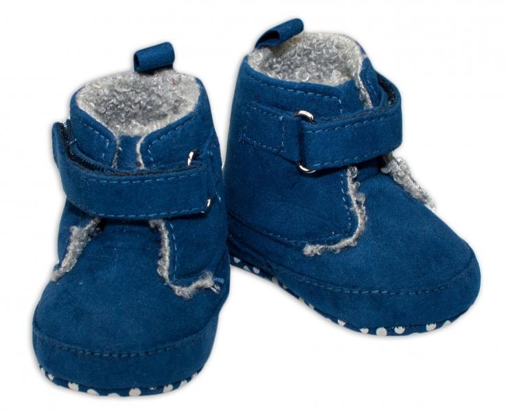 Zimní capačky/botičky YO! - tm. modré, Velikost: 0/6 měsíců