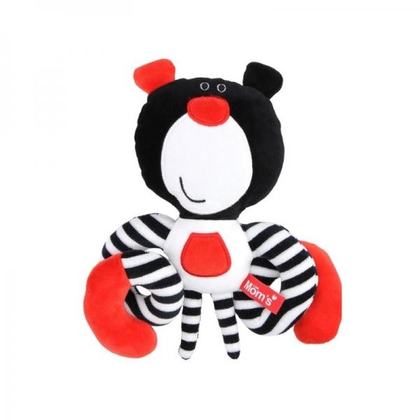 Roztomilá edukační hračka Méďa spirálka - černá