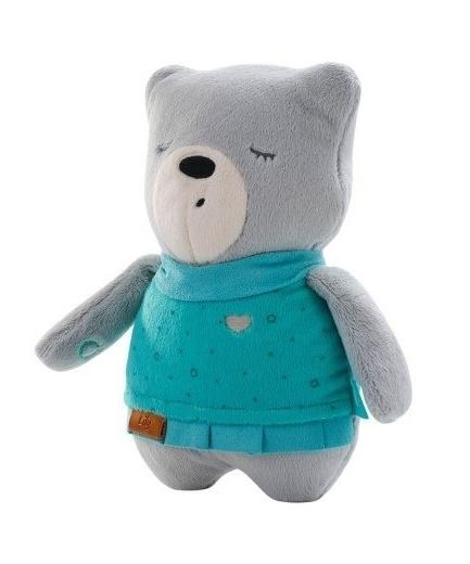 Szumisie Šumící mazlíček Medvídek Lily 25 cm - šedý/mátová