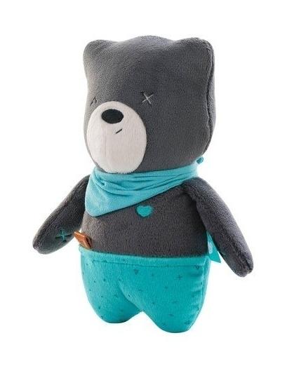 Szumisie Šumící mazlíček Medvídek Matt 25 cm - grafitový/mátová