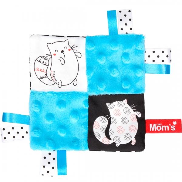 Hencz Toys Edukační hračka šustík - kočičky, tyrkysová