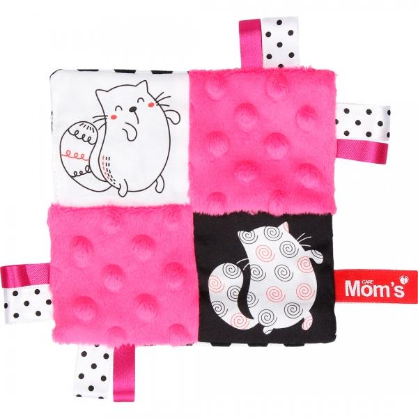 Hencz Toys Edukační hračka šustík - kočičky, růžová