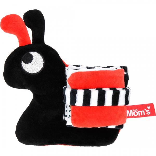 Edukační/textilní knížečka - hlemýžď, černo-červená